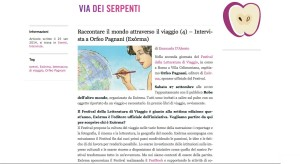 Intervista Orfeo Pagnani Via dei Serpenti